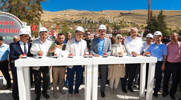 Tabiat Parkı için temel atma töreni