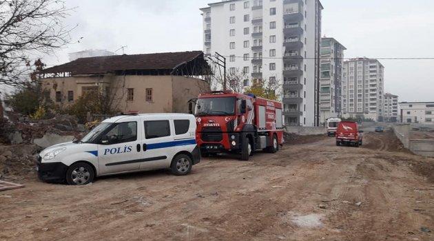 Tecde'de ev yangını