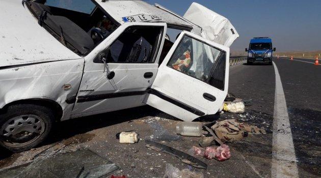 Trafik kazası 2'si ağır 4 yaralı