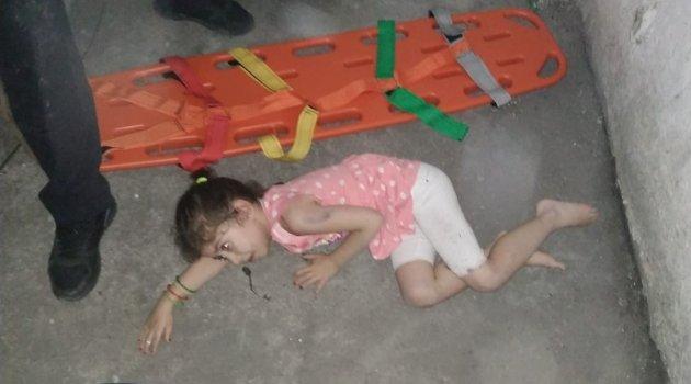 Üçüncü kattan düşen çocuk yaralandı