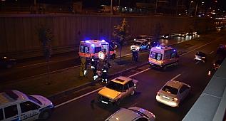 Alt geçitte trafik kazası: 4 yaralı