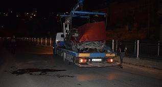 Otomobil şarampole düştü: 1'i polis 2 yaralı