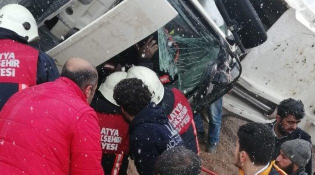 Taş ocağında feci kaza: 1 yaralı