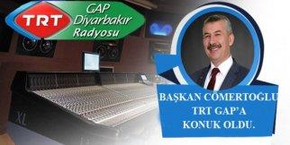 Başkan Cömertoğlu TRT GAP Diyarbakır'ın Konuğu Oldu
