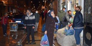 Malatya'da vatandaşlar fırın ve marketlere hücum etti